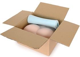 腰振り大型オナホールアクセサリ【ウレタンヒップ】の箱詰め状態